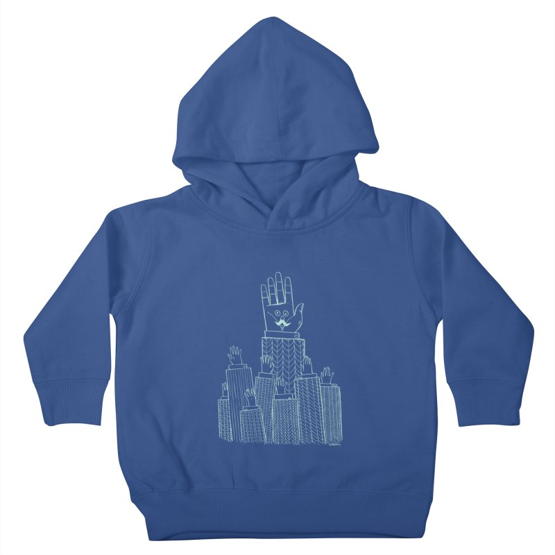 I'M HERE!! (Light Ink For Dark Shirts) Kids Toddler Pullover Hoody by Dustin Harbin's Sweet T's!