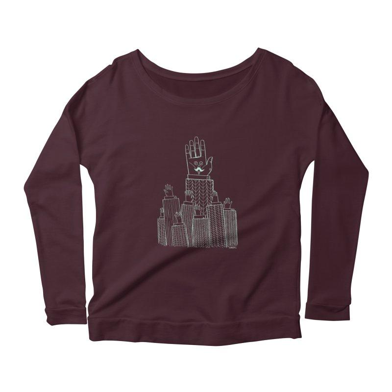 I'M HERE!! (Light Ink For Dark Shirts) Women's Scoop Neck Longsleeve T-Shirt by Dustin Harbin's Sweet T's!