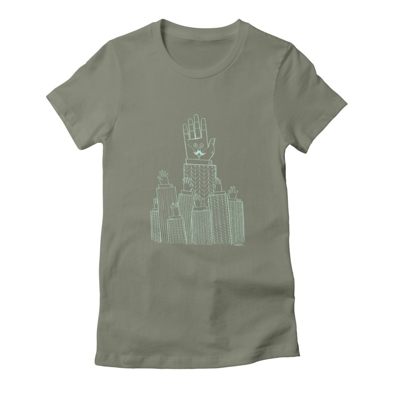 I'M HERE!! (Light Ink For Dark Shirts) Women's Fitted T-Shirt by Dustin Harbin's Sweet T's!