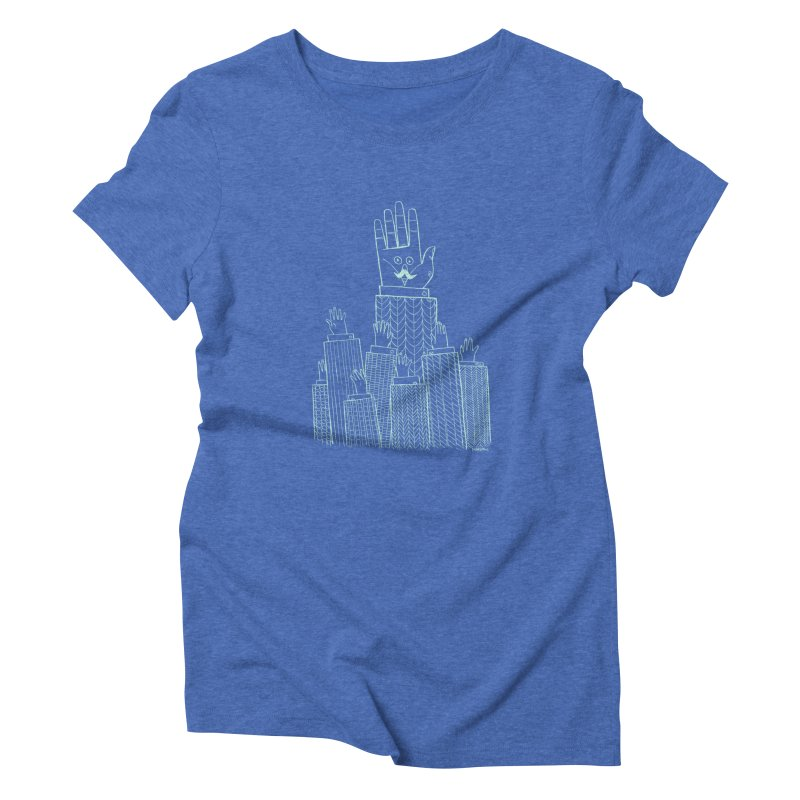 I'M HERE!! (Light Ink For Dark Shirts) Women's Triblend T-Shirt by Dustin Harbin's Sweet T's!