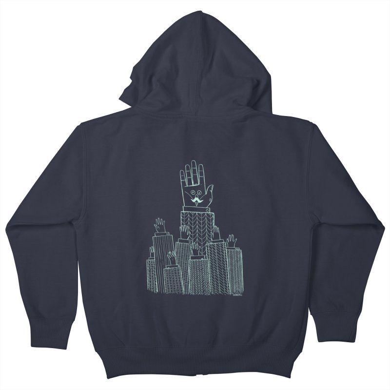 I'M HERE!! (Light Ink For Dark Shirts) Kids Zip-Up Hoody by Dustin Harbin's Sweet T's!