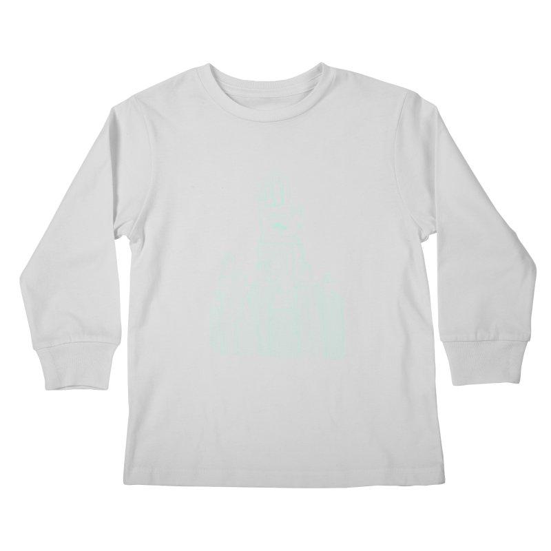 I'M HERE!! (Light Ink For Dark Shirts) Kids Longsleeve T-Shirt by Dustin Harbin's Sweet T's!