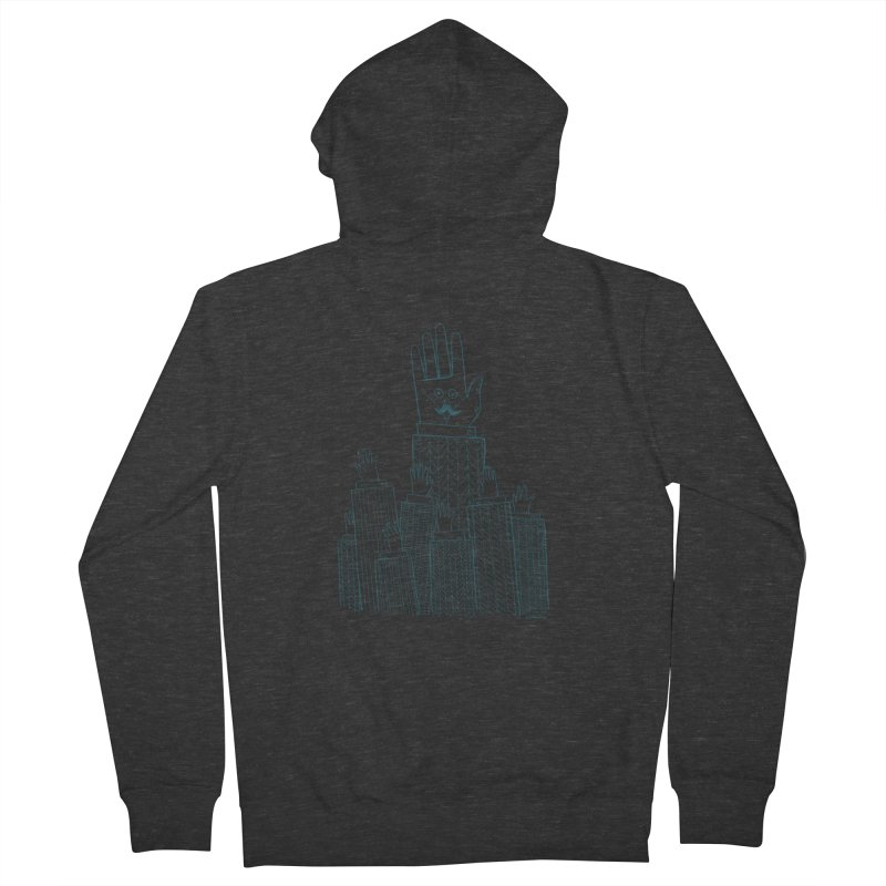 I'M HERE!! (For Light Shirts) Men's French Terry Zip-Up Hoody by Dustin Harbin's Sweet T's!