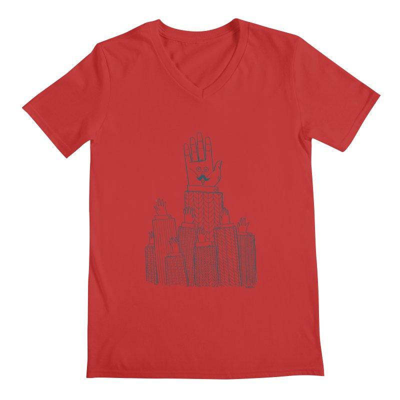I'M HERE!! (For Light Shirts) Men's V-Neck by Dustin Harbin's Sweet T's!
