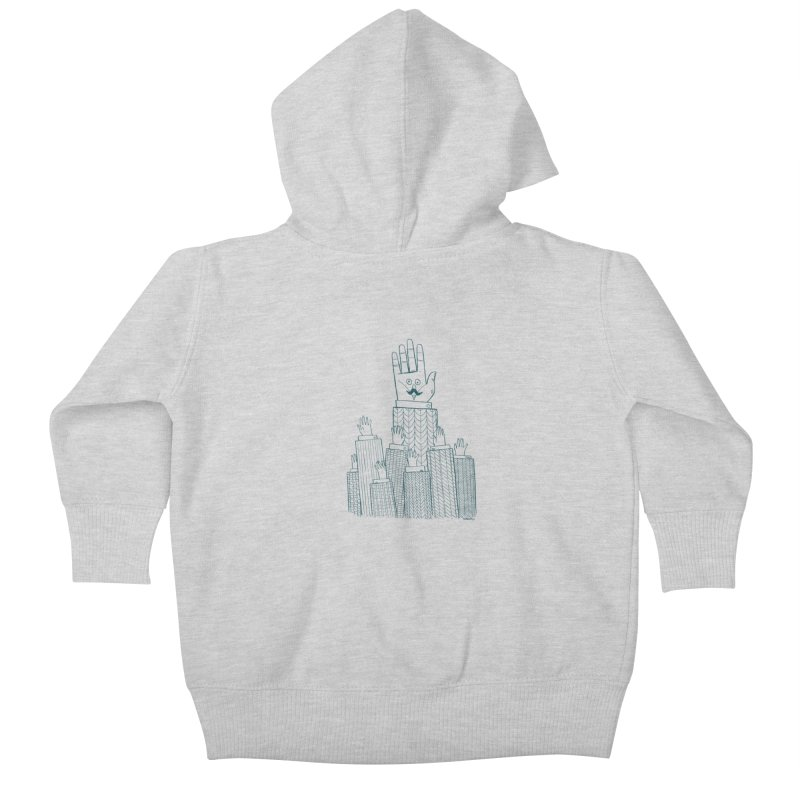 I'M HERE!! (For Light Shirts) Kids Baby Zip-Up Hoody by Dustin Harbin's Sweet T's!