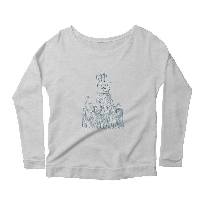 I'M HERE!! (For Light Shirts) Women's Longsleeve Scoopneck  by Dustin Harbin's Sweet T's!