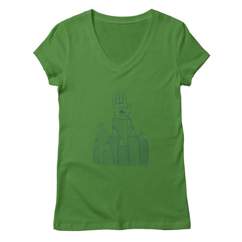 I'M HERE!! (For Light Shirts) Women's Regular V-Neck by Dustin Harbin's Sweet T's!