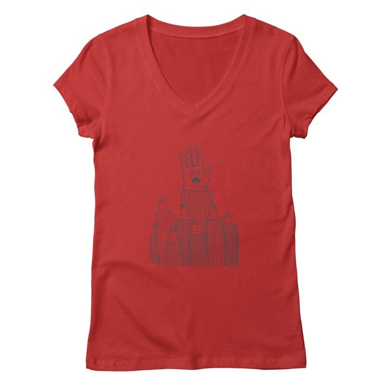 I'M HERE!! (For Light Shirts) Women's V-Neck by Dustin Harbin's Sweet T's!