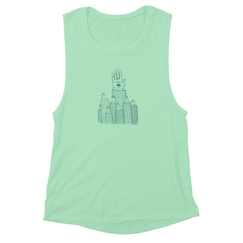 I'M HERE!! (For Light Shirts) Women's Muscle Tank by Dustin Harbin's Sweet T's!