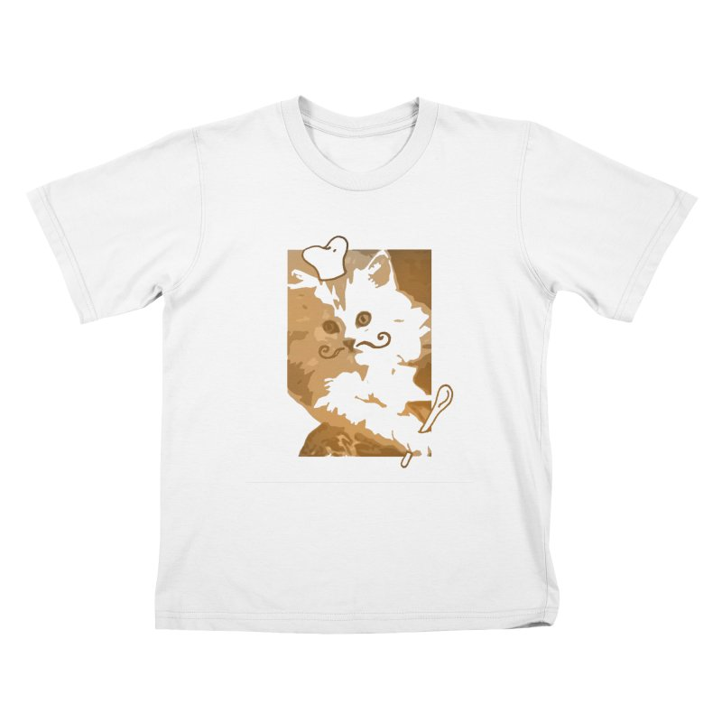 The cook cat Kids T-shirt by dharry's Artist Shop