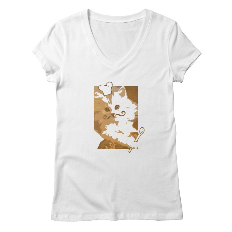 The cook cat Women's V-Neck by dharry's Artist Shop