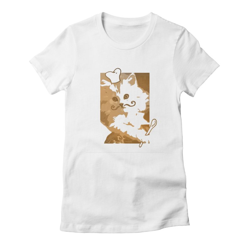 The cook cat Women's Fitted T-Shirt by dharry's Artist Shop