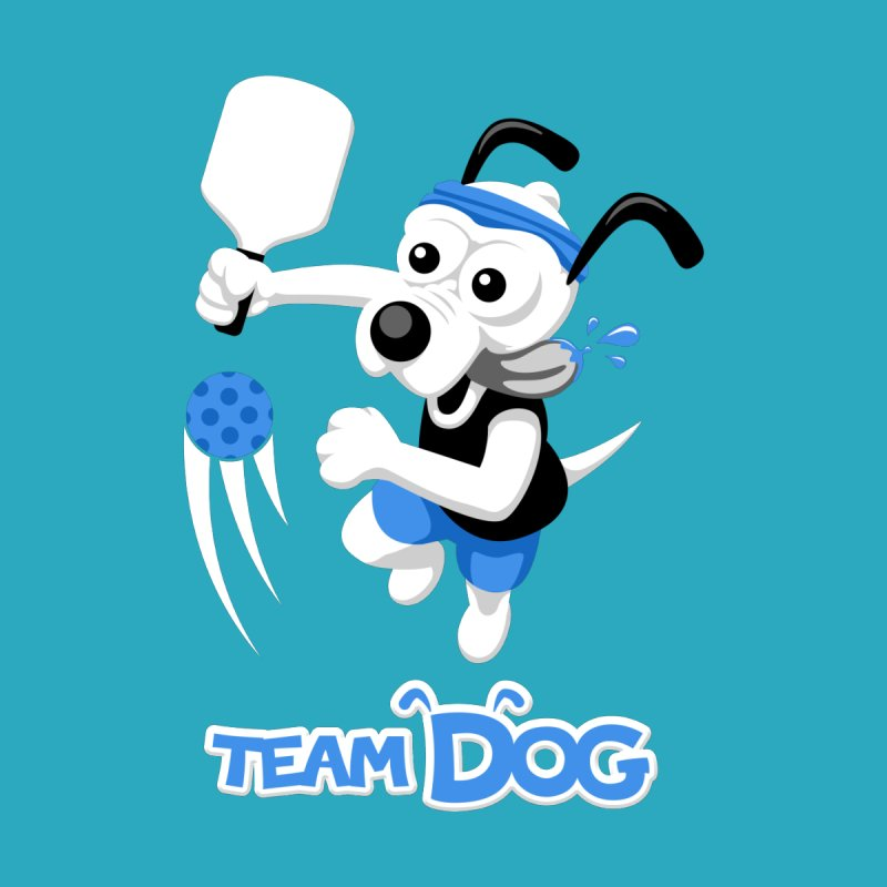 Pickleball Pets - Team Dog by D.Hawk Toons