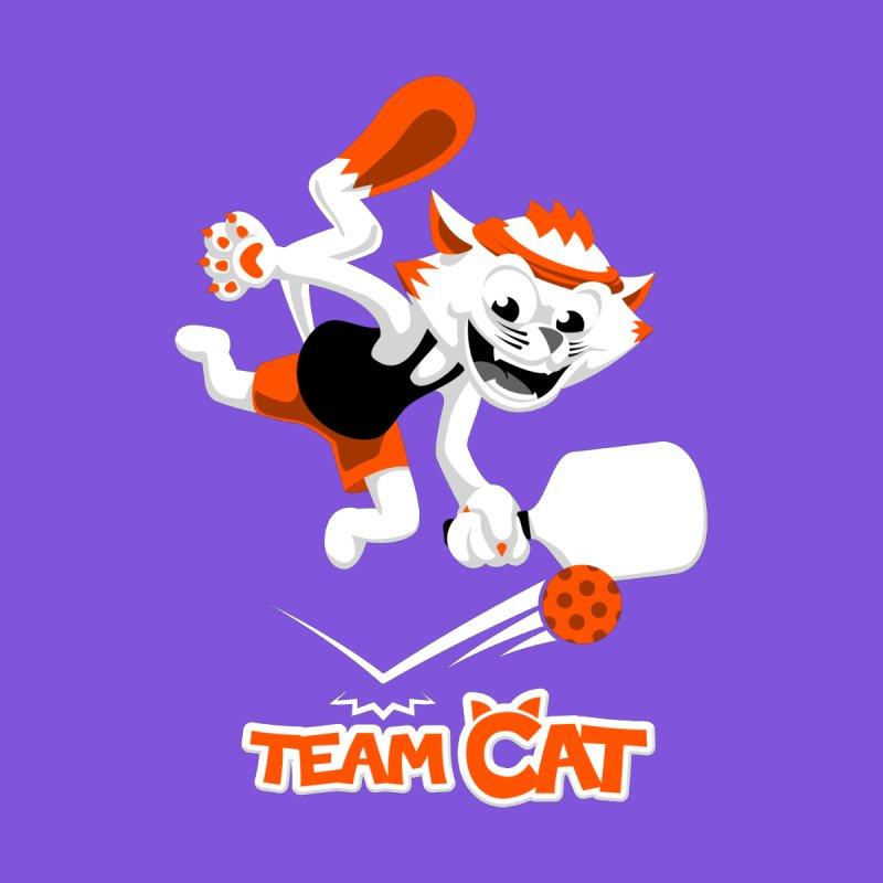Pickleball Pets - Team Cat by D.Hawk Toons