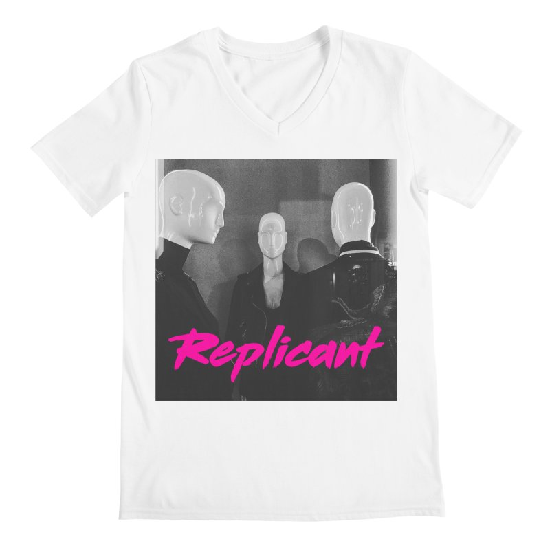 Replicant Trio #1 Men's V-Neck by Dia Lacina