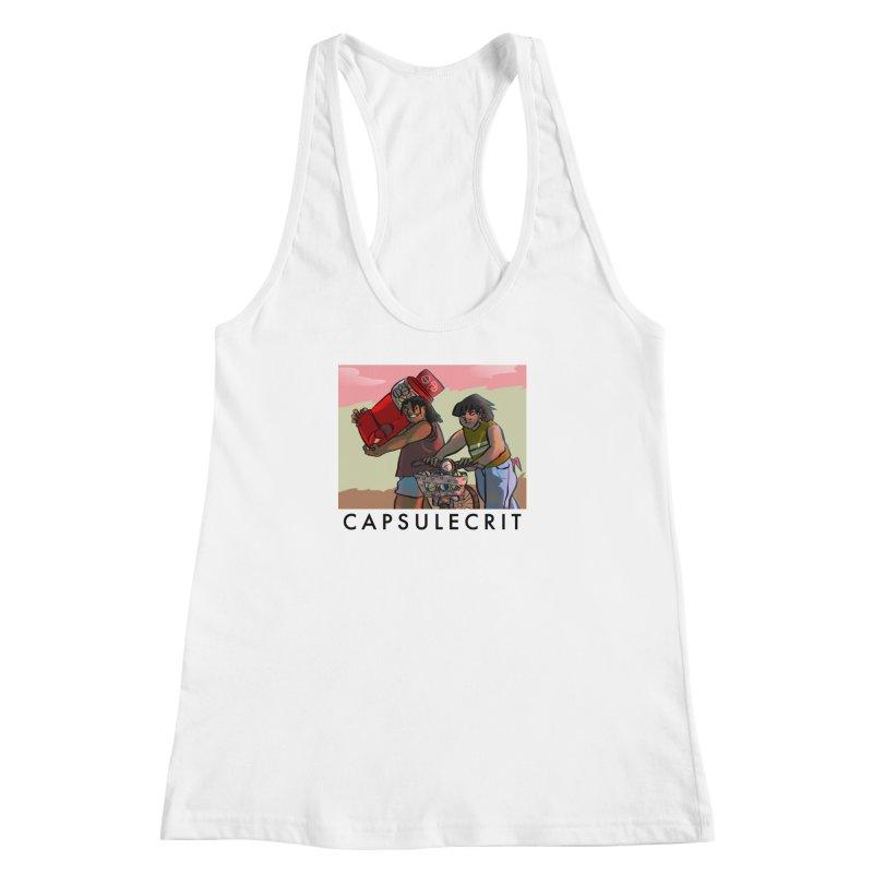 CapsuleCrit by Gaby Aveiro (Black Logo) Women's Racerback Tank by Dia Lacina