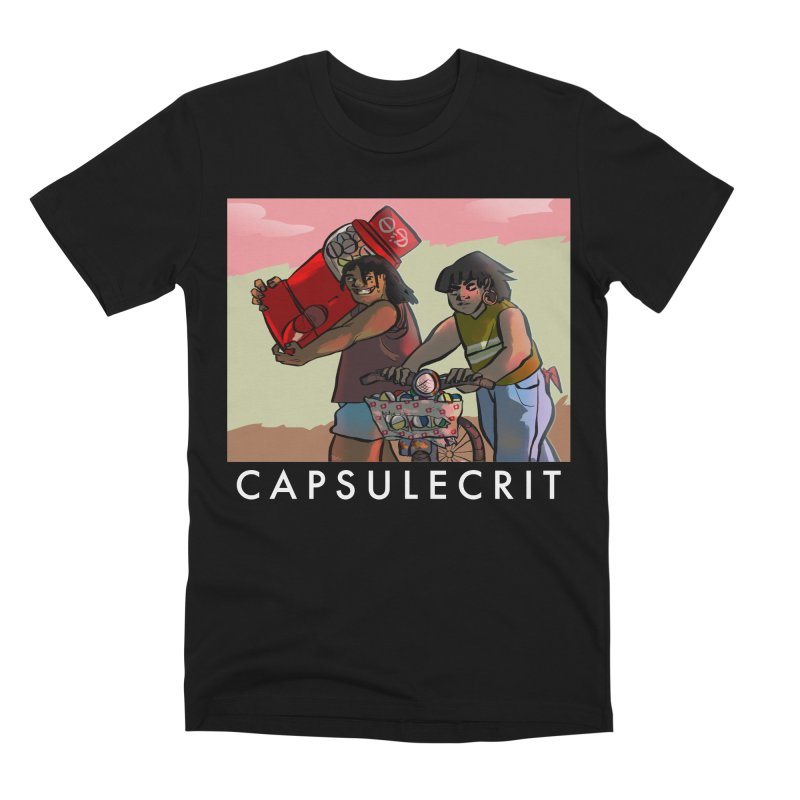 CapsuleCrit by Gaby Aveiro (White Logo) Men's T-Shirt by Dia Lacina