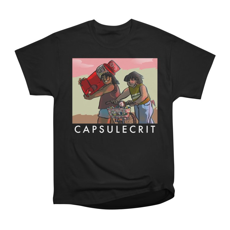 CapsuleCrit by Gaby Aveiro (White Logo) Men's Heavyweight T-Shirt by Dia Lacina