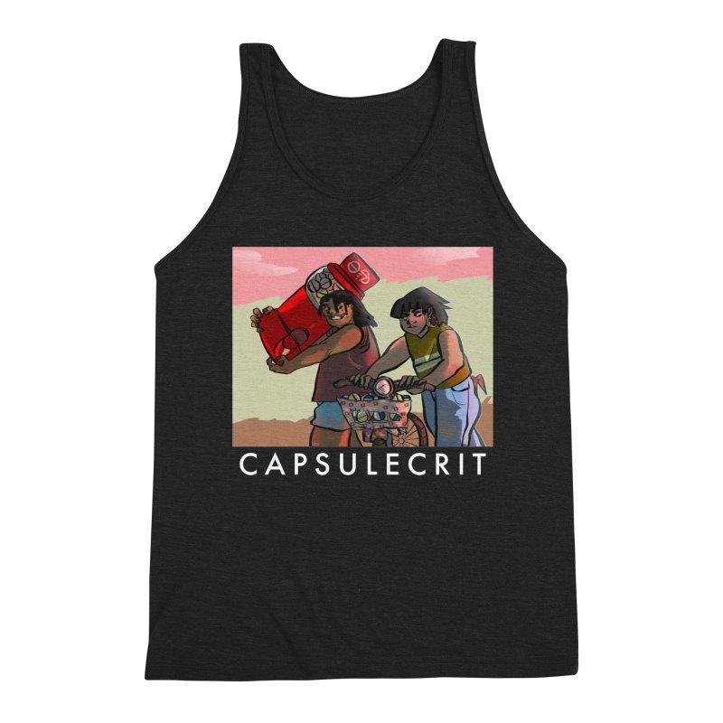 CapsuleCrit by Gaby Aveiro (White Logo) Men's Triblend Tank by Dia Lacina