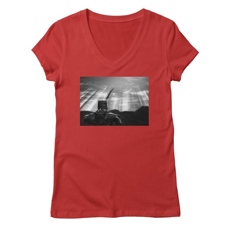 Grossly Incandescent Women's V-Neck by Dia Lacina