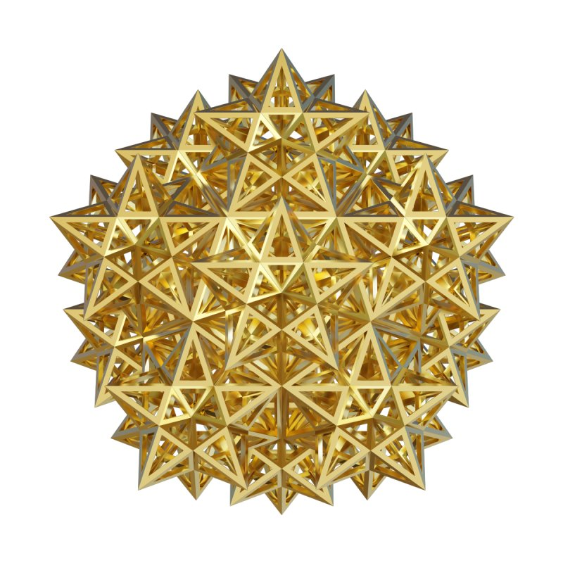 14 Stellated Dodecahedrons Gold Home Tapestry by diamondheart's Artist Shop