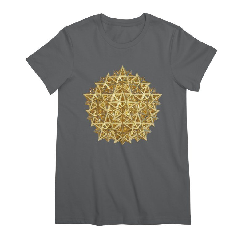 14 Stellated Dodecahedrons Gold Women's Premium T-Shirt by diamondheart's Artist Shop