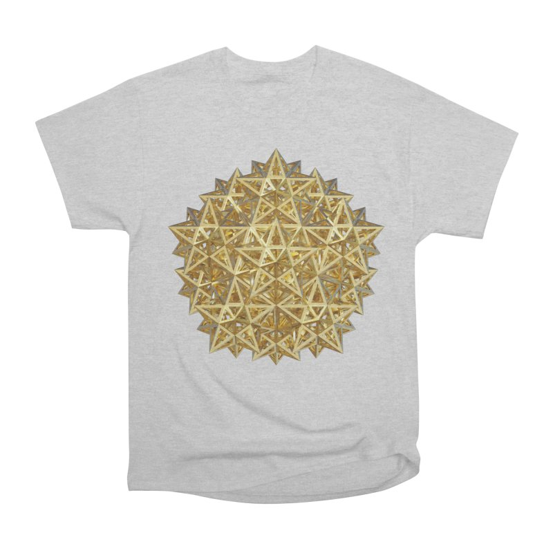 14 Stellated Dodecahedrons Gold Men's T-Shirt by diamondheart's Artist Shop