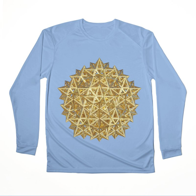 14 Stellated Dodecahedrons Gold Men's Performance Longsleeve T-Shirt by diamondheart's Artist Shop