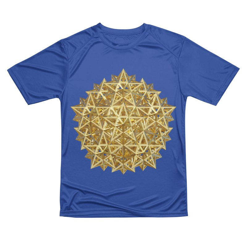 14 Stellated Dodecahedrons Gold Women's Performance Unisex T-Shirt by diamondheart's Artist Shop