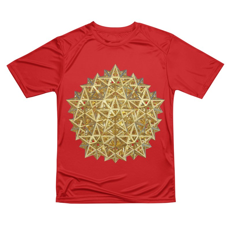 14 Stellated Dodecahedrons Gold Men's Performance T-Shirt by diamondheart's Artist Shop