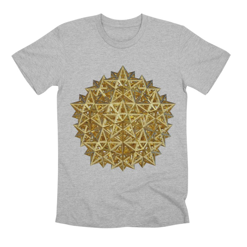14 Stellated Dodecahedrons Gold Men's Premium T-Shirt by diamondheart's Artist Shop