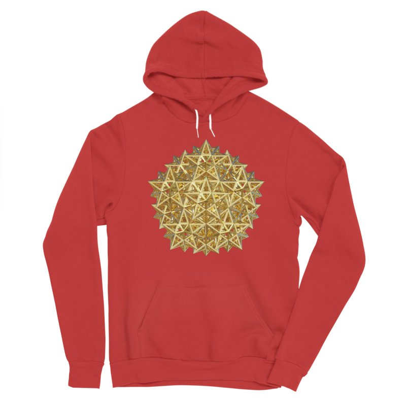 14 Stellated Dodecahedrons Gold Men's Sponge Fleece Pullover Hoody by diamondheart's Artist Shop