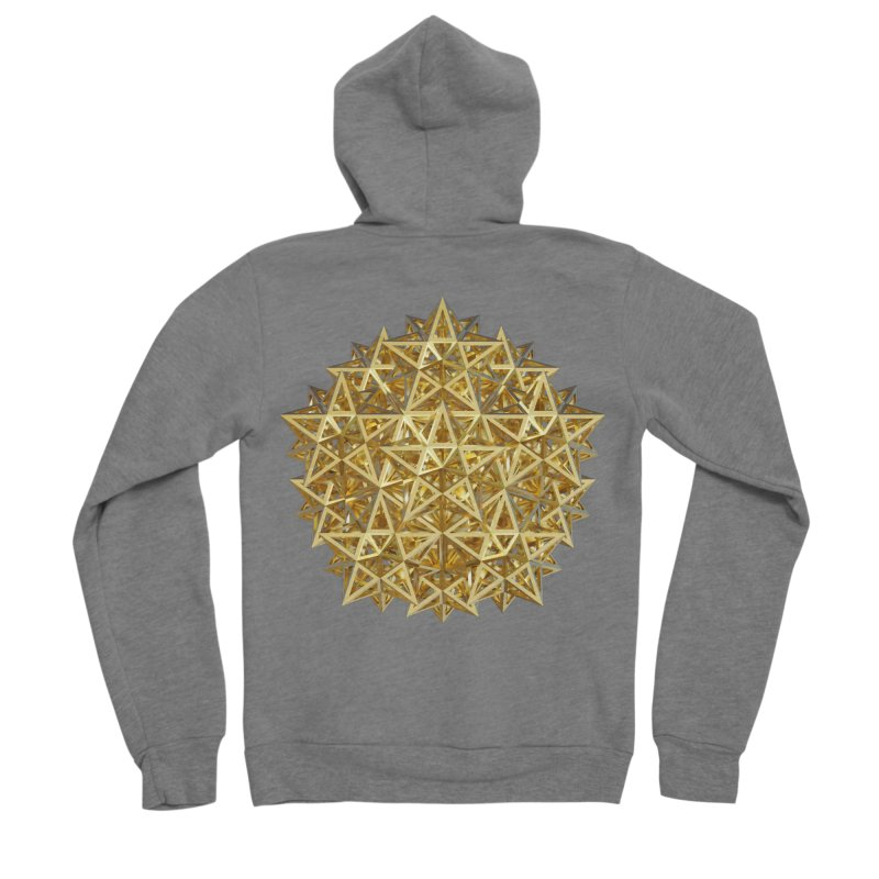 14 Stellated Dodecahedrons Gold Women's Sponge Fleece Zip-Up Hoody by diamondheart's Artist Shop