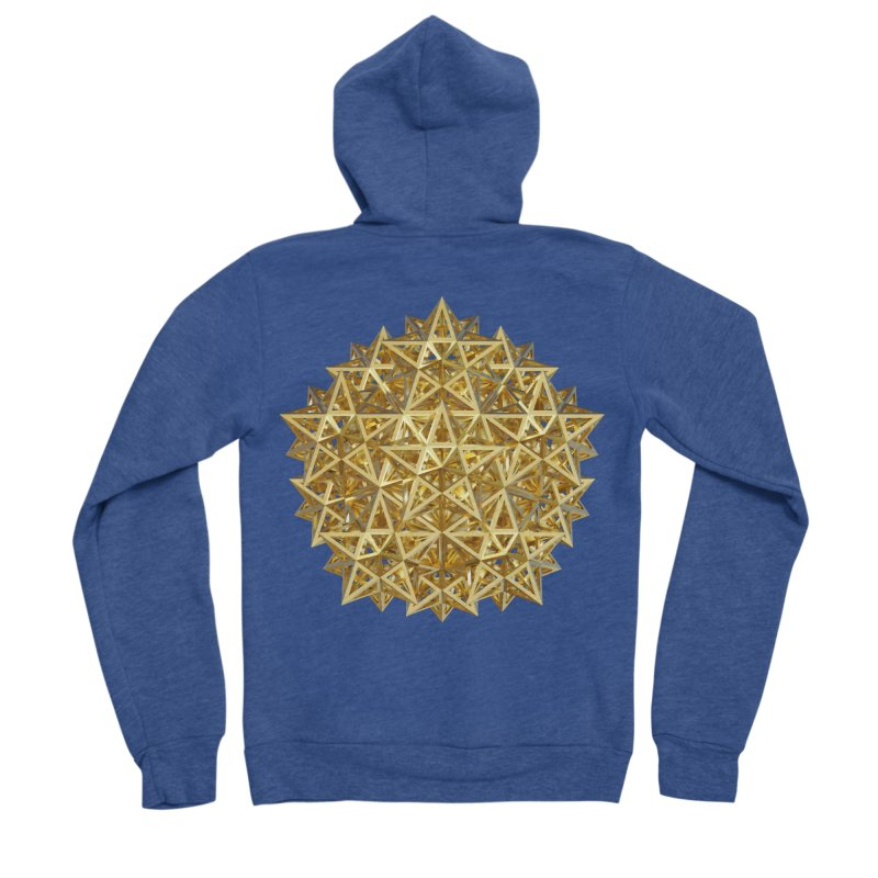 14 Stellated Dodecahedrons Gold Men's Sponge Fleece Zip-Up Hoody by diamondheart's Artist Shop