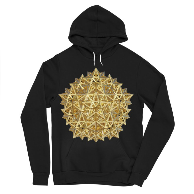 14 Stellated Dodecahedrons Gold Women's Sponge Fleece Pullover Hoody by diamondheart's Artist Shop