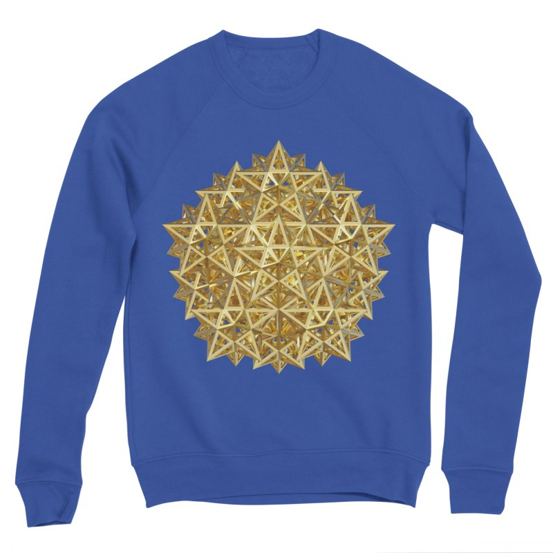 14 Stellated Dodecahedrons Gold Men's Sweatshirt by diamondheart's Artist Shop