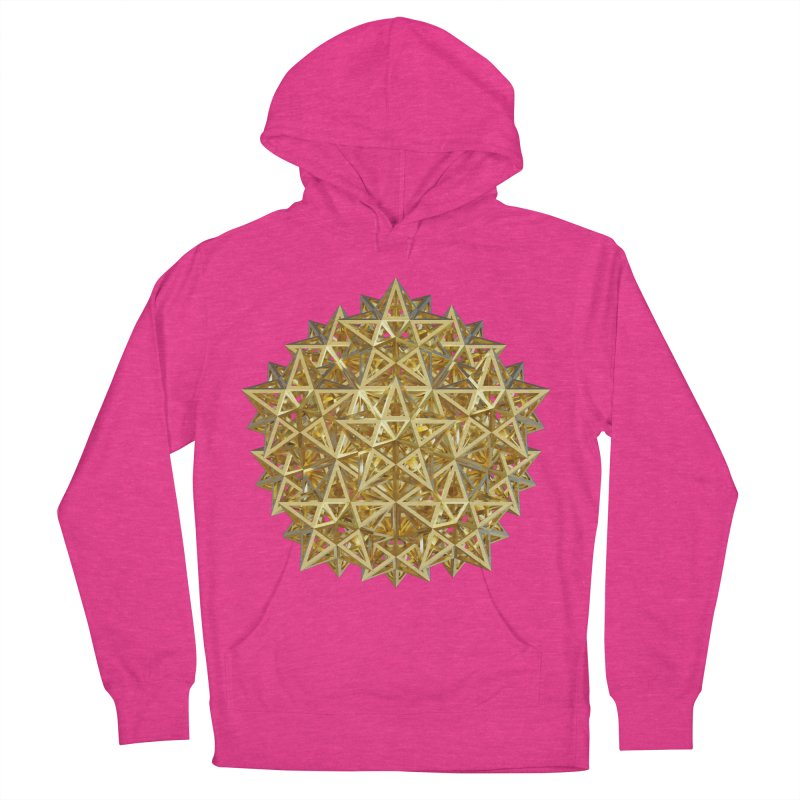 14 Stellated Dodecahedrons Gold Women's French Terry Pullover Hoody by diamondheart's Artist Shop