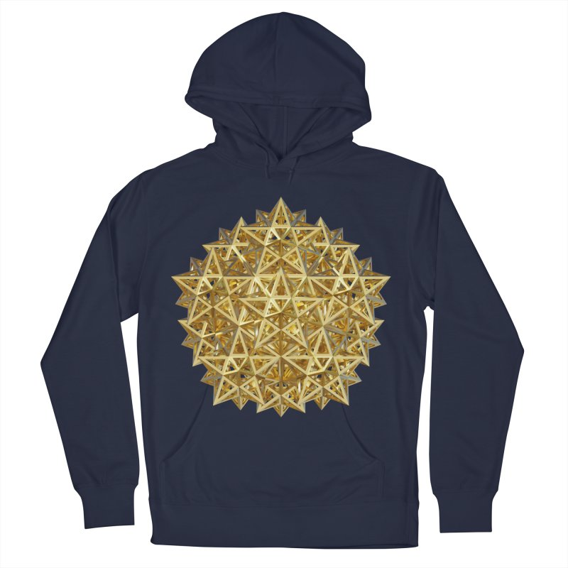 14 Stellated Dodecahedrons Gold Men's French Terry Pullover Hoody by diamondheart's Artist Shop