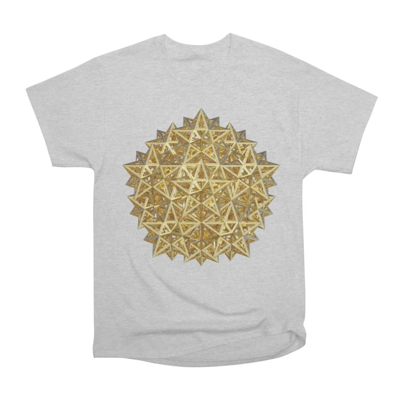 14 Stellated Dodecahedrons Gold Women's Heavyweight Unisex T-Shirt by diamondheart's Artist Shop