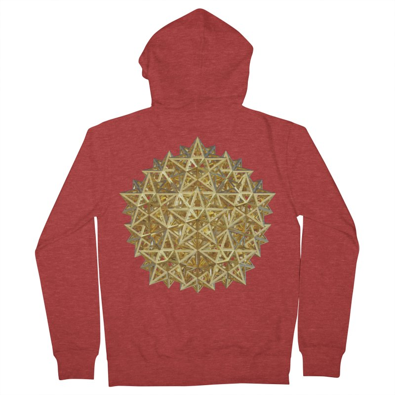 14 Stellated Dodecahedrons Gold Women's French Terry Zip-Up Hoody by diamondheart's Artist Shop
