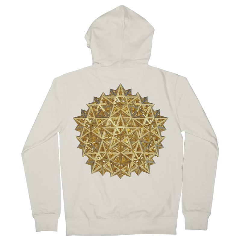 14 Stellated Dodecahedrons Gold Men's French Terry Zip-Up Hoody by diamondheart's Artist Shop