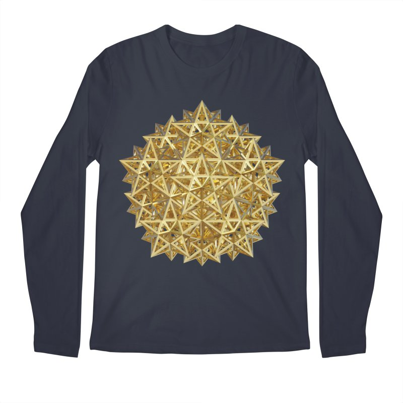 14 Stellated Dodecahedrons Gold Men's Regular Longsleeve T-Shirt by diamondheart's Artist Shop
