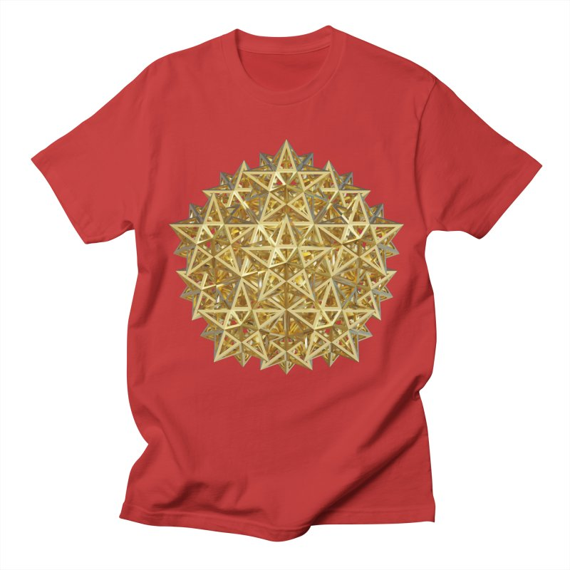 14 Stellated Dodecahedrons Gold Women's Regular Unisex T-Shirt by diamondheart's Artist Shop