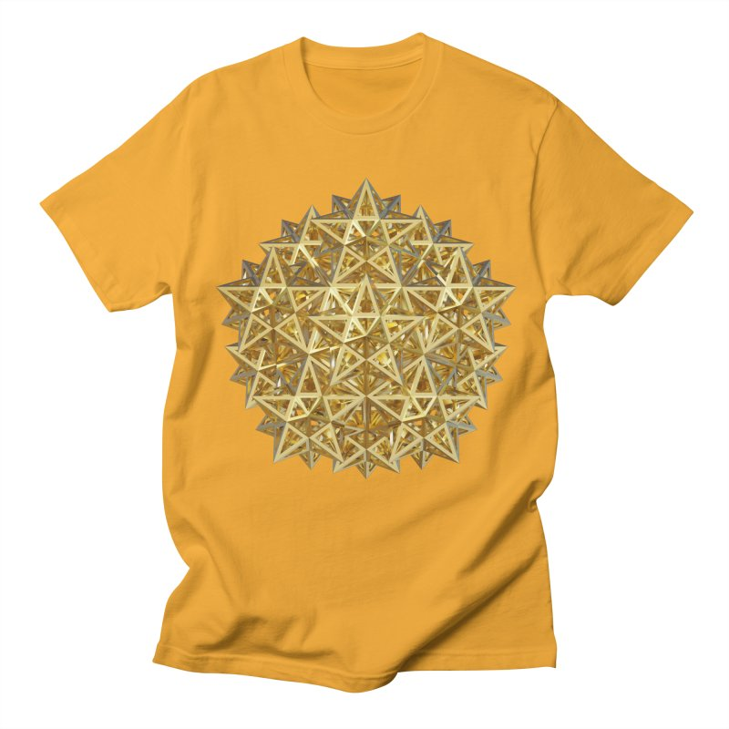 14 Stellated Dodecahedrons Gold Men's Regular T-Shirt by diamondheart's Artist Shop