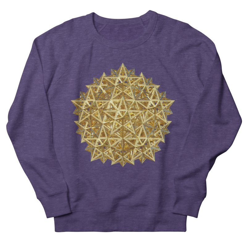 14 Stellated Dodecahedrons Gold Women's French Terry Sweatshirt by diamondheart's Artist Shop