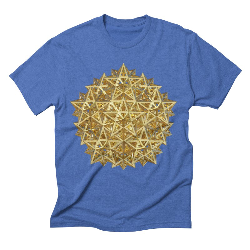 14 Stellated Dodecahedrons Gold Men's Triblend T-Shirt by diamondheart's Artist Shop