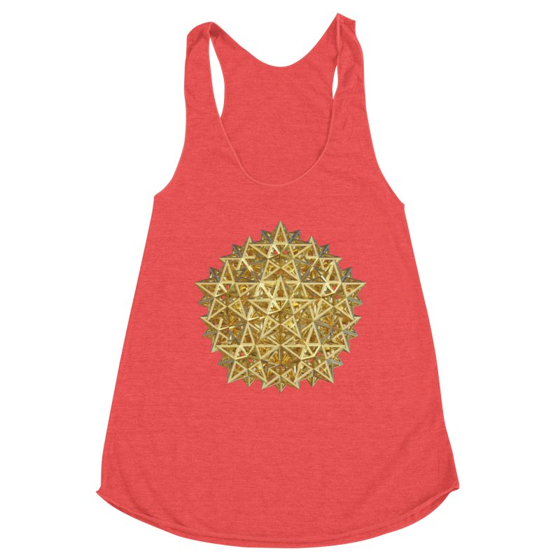 14 Stellated Dodecahedrons Gold Women's Tank by diamondheart's Artist Shop