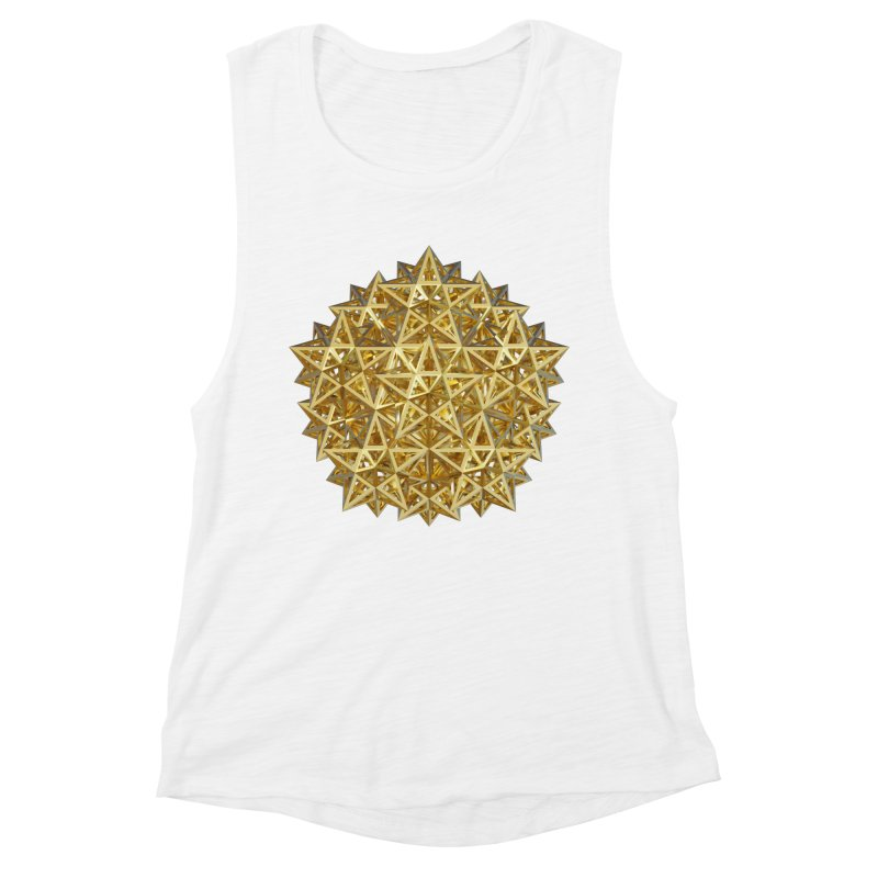 14 Stellated Dodecahedrons Gold Women's Muscle Tank by diamondheart's Artist Shop