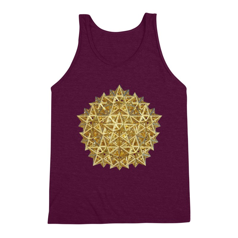 14 Stellated Dodecahedrons Gold Men's Triblend Tank by diamondheart's Artist Shop