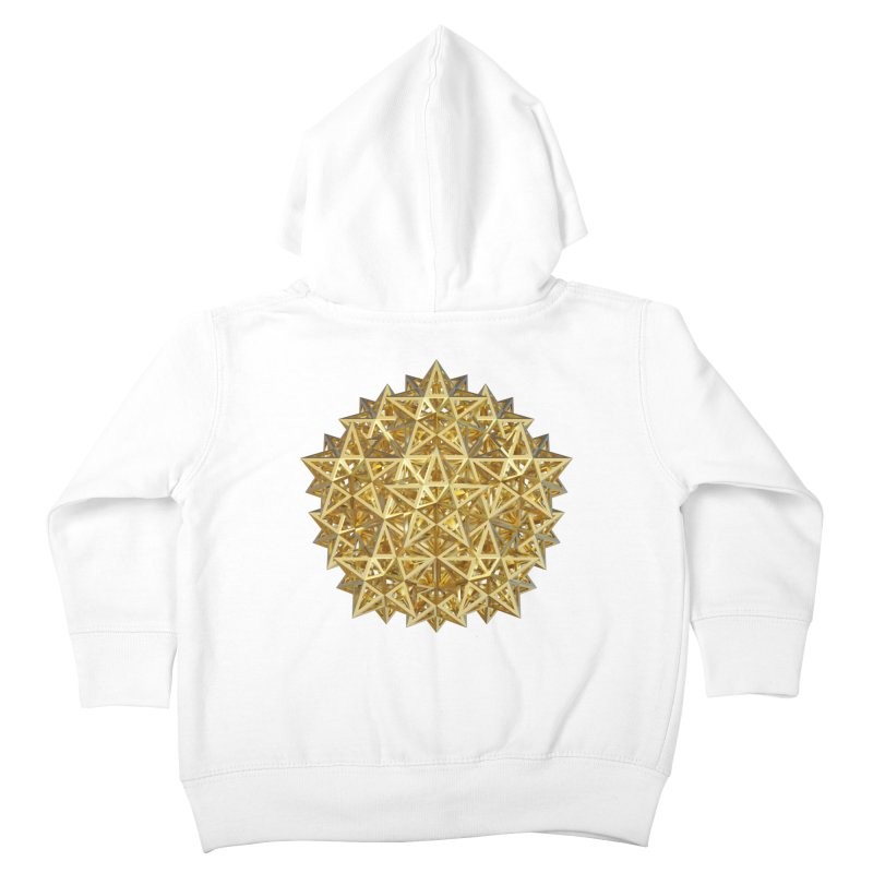 14 Stellated Dodecahedrons Gold Kids Toddler Zip-Up Hoody by diamondheart's Artist Shop